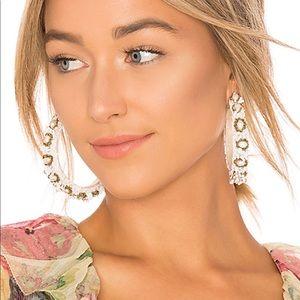 Ranjana Khan white hoop earrings NWT